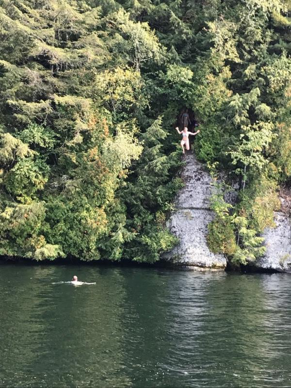 pulpit roock cliff dive
