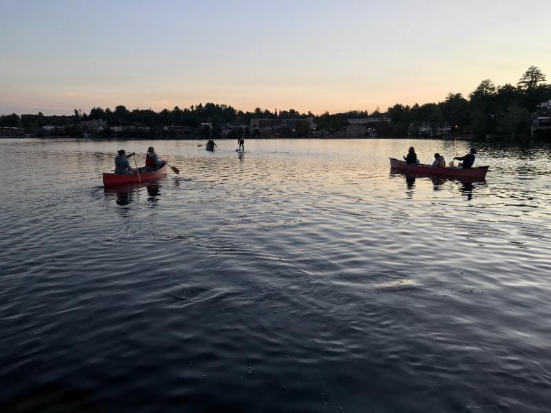 paddling at twighlight