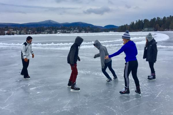 Skating on Mirror Lake