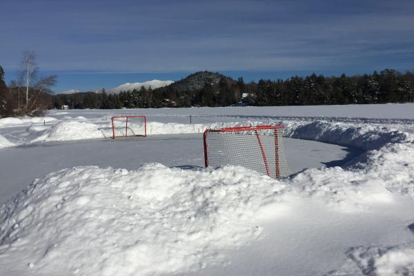 Pond Hockey on Mirror Lake