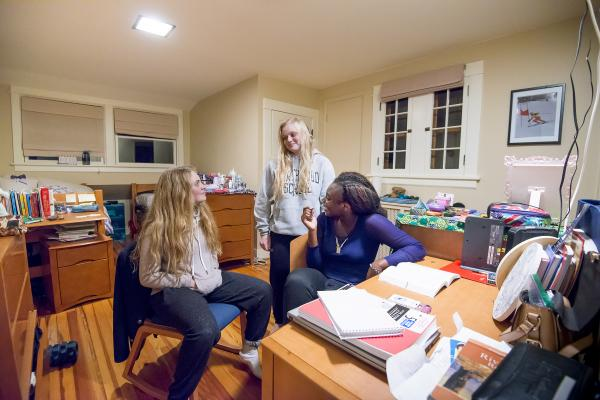 Boarding school students in dorm at Northwood