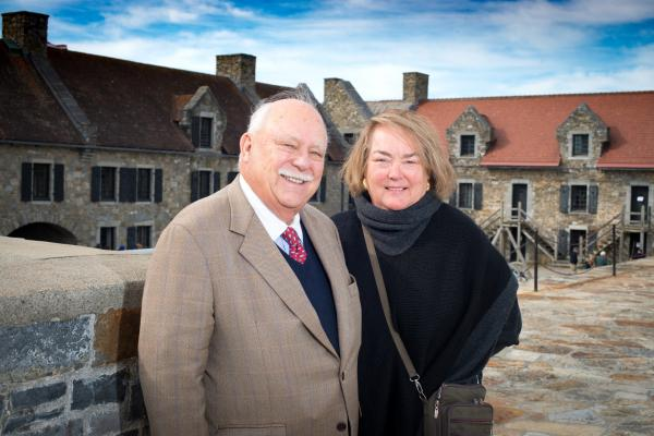 Photograph of Tony and wife Kitty at Fort Ticonderoga.