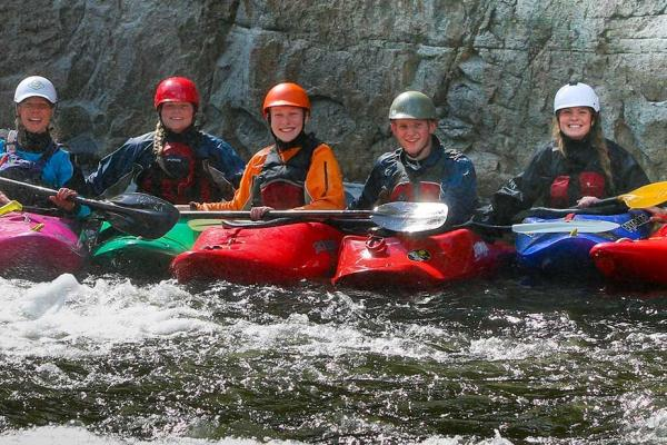 Northwood School offers a whitewater kayaking program