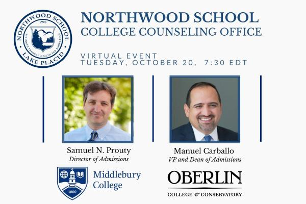 College Counseling Event - Middlebury and Oberlin
